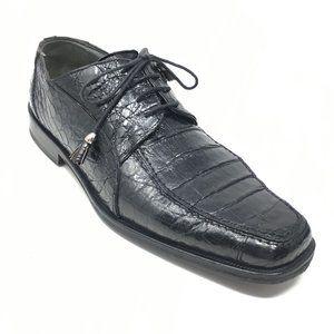 David Eden Oxfords Shoes Size 9.5 Black Crocodile